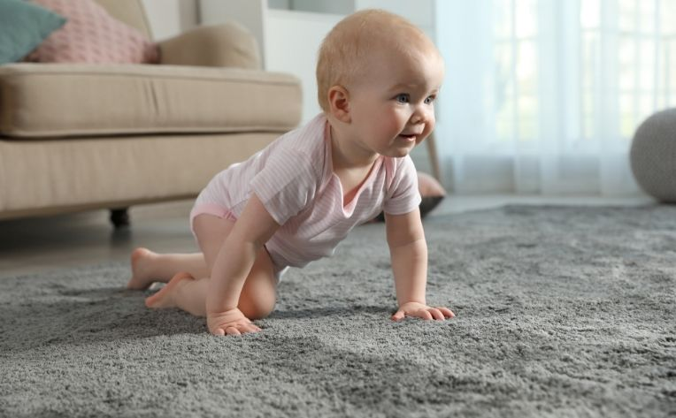 Baby on Soft Carpet